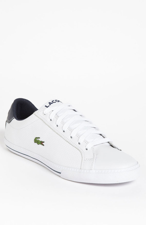 4a6beaaceaf ... White Leather Low Top Sneakers Lacoste Graduate Sneaker ...