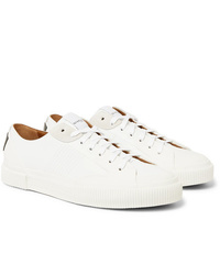 Givenchy Logo Print Rubber And Suede Trimmed Leather Sneakers