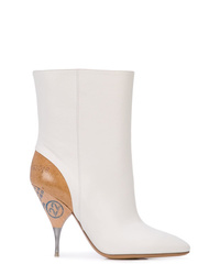 Maison Margiela Contrasting Heel Ankle Boots