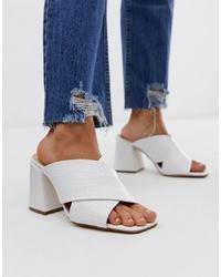 Office Mansion White Croc Sandals