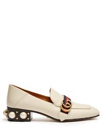 Peyton faux pearl heel leather pumps medium 1148616