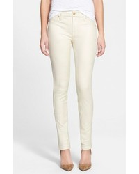 White Leather Skinny Pants