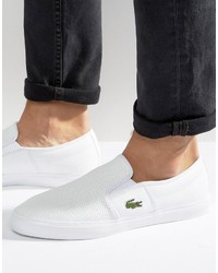 Lacoste Gazon Leather Slip On Sneakers
