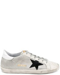 Golden Goose Deluxe Brand Distressed Off White Super Star Sneakers