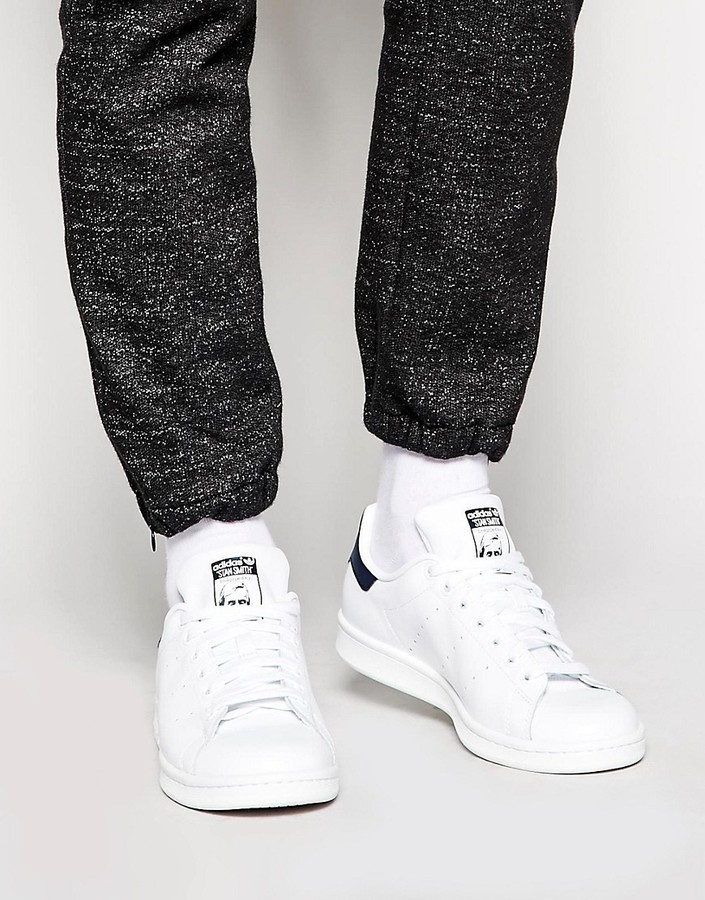 new product eecb8 520fc ... White Leather Sneakers adidas Originals Stan Smith Leather Sneakers  M20325 ...