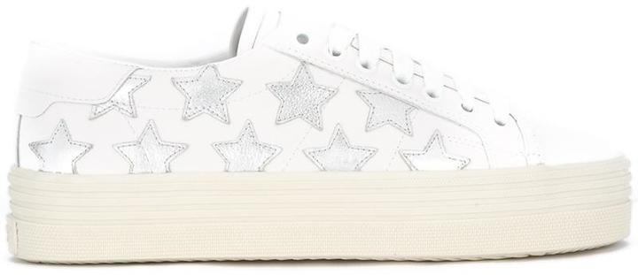 0608f163185 Signature Court Classic Sl39 California Platform Sneakers. White Leather  Sneakers by Saint Laurent