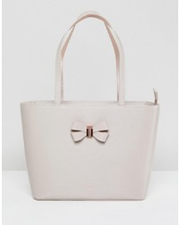 Ted Baker Bow Shopper In Leather