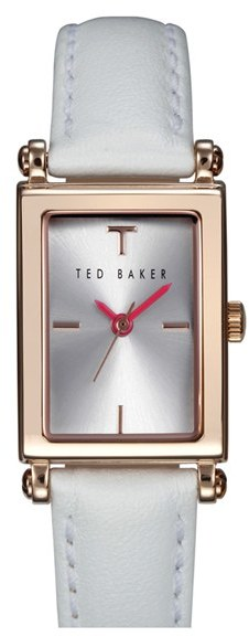 Ted Baker London Bliss Rectangle Case Leather Strap Watch 20mm X 27mm