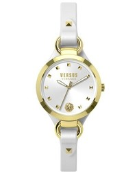 Versus By Versace Roslyn Leather Strap Watch 34mm
