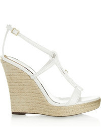 Burberry Shoes Accessories Leather Wedge Espadrilles