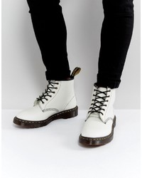 White Leather Work Boots