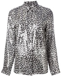 Leopard print blouse medium 197311