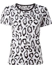 White Leopard Crew-neck T-shirt