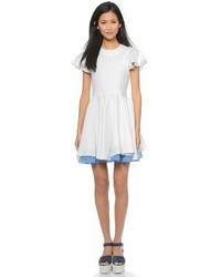 White Linen Casual Dress