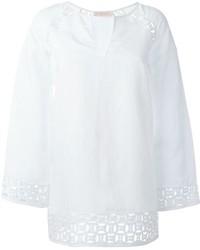 White Linen Long Sleeve Blouse
