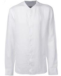 Z Zegna Round Neck Linen Shirt