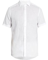 Etro Short Sleeved Linen Shirt