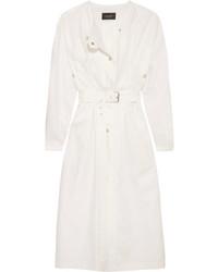 Isabel Marant Ivo Linen Trench Coat White