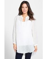Eileen Fisher Organic Linen Mandarin Collar Tunic