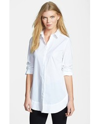 Weekend Max Mara Refolo Poplin Tunic Shirt White 4