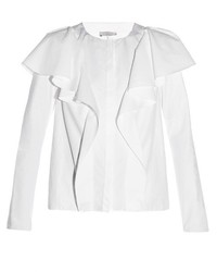 Lanvin Ruffled Long Sleeved Blouse