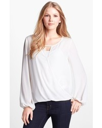 Vince Camuto Wrap Front Blouse New Ivory Large