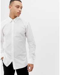 Hugo Elisha01 Extra Slim Fit Poplin Shirt In White