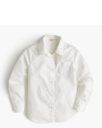 J.Crew Girls Long Sleeve Tissue Oxford Shirt