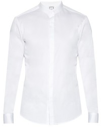 Wooyoungmi Granddad Collar Cotton Poplin Shirt