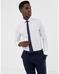Calvin Klein Slim Fit Pinstripe Shirt Blue