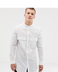 ASOS DESIGN T Line Shirt With Grandad Collar