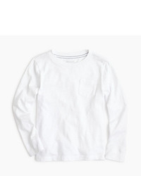 J.Crew Boys Slub Long Sleeve Pocket T Shirt