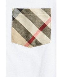 Burberry Check Print Pocket T Shirt