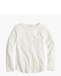 J.Crew Girls Long Sleeve Stone Flower T Shirt