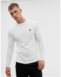 Lyle & Scott Logo Long Sleeve Top In White