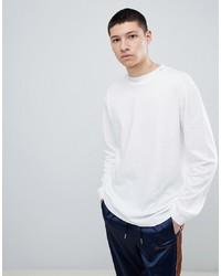 Mennace Oversized Long Sleeve T Shirt In White