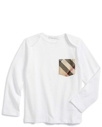 Burberry Toddler Boys Callum Long Sleeve Check Print Pocket T Shirt