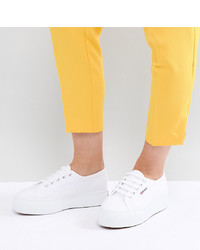 Superga 2790 Linea Flatform Trainers In White