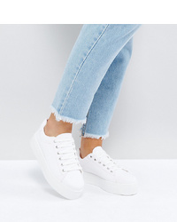 ASOS DESIGN Asos Day Light Wide Fit Chunky Flatform Lace Up Trainers