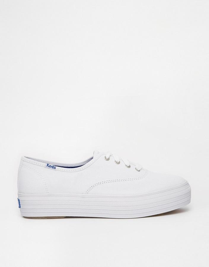 93b1949239ed ... Sneakers Keds Champion Triple White Core Plimsoll Trainers ...