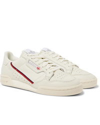 adidas Originals Continental 80 Grosgrain Trimmed Leather Sneakers