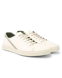 Rick Owens Geotrasher Suede Trimmed Leather Sneakers