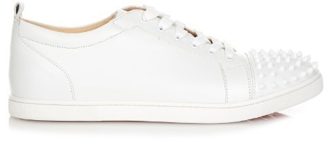 best loved d6d6f b3135 £566, Christian Louboutin Gondolaclou Low Top Leather Trainers