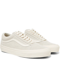 Vans Og Old Skool Lx Leather Trimmed Suede Sneakers