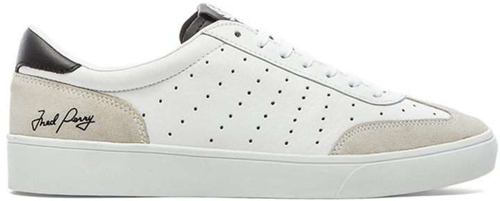 Fred Perry Umpire Leather White Green, Blanco, 39