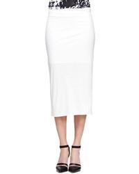 Helmut Lang Ion Jersey Midi Skirt