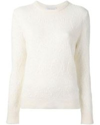 White Mohair Crew-neck Sweater