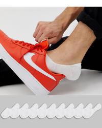 ASOS DESIGN Invisible Socks In White 10 Pack