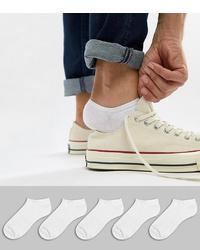 ASOS DESIGN Trainer Socks In White 5
