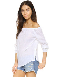 Rag & Bone Jean Off Shoulder Shirt